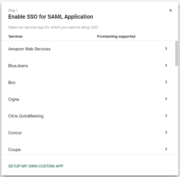 G Suite: How to set up authentication - Room Booking System