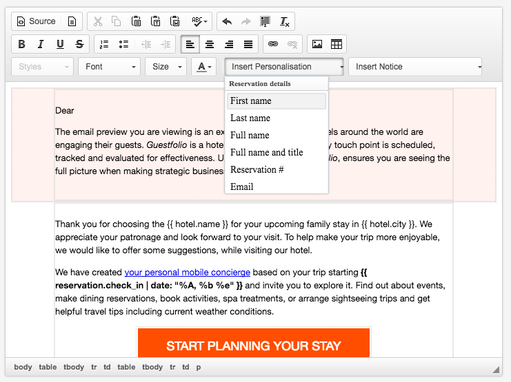 Personalizing your automated emails - Guestfolio