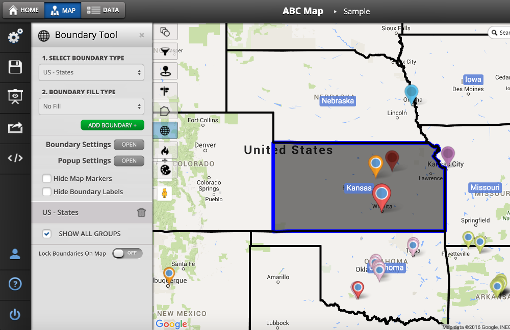How To Use The Boundary Tool - Maptive Answer Center