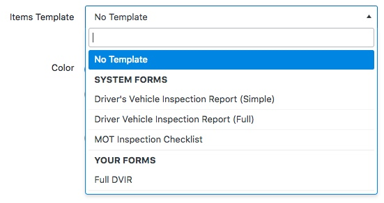 Inspections forms fleetio help center note workflows and schedules are not included with templates so add these to your new form as needed if you wish to include workflows scroll down to the maxwellsz