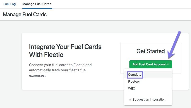 Comdata fuel card integration fleetio help center enter your comdata account number and click continue colourmoves