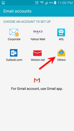 Setting Up Email On Android Phones And Tablets - WebStarts