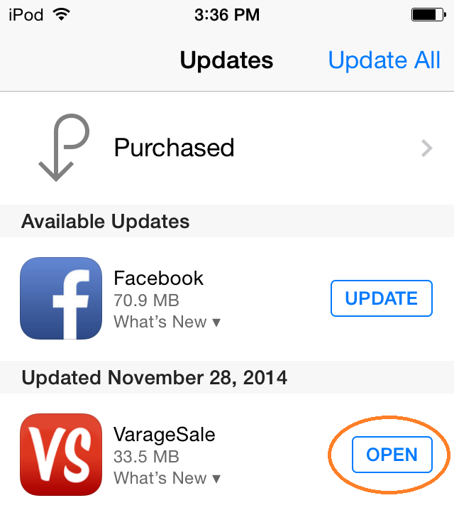 How do I update my mobile app? - VarageSale Knowledge Base