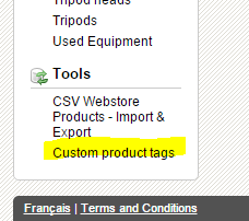 1 Log Into The Mydakis And Head To Inventory Tab Scroll Down Bottom Of Page Look For Custom Product Tags In Left Hand Menu