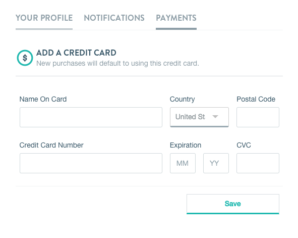 VHX Payment Settings