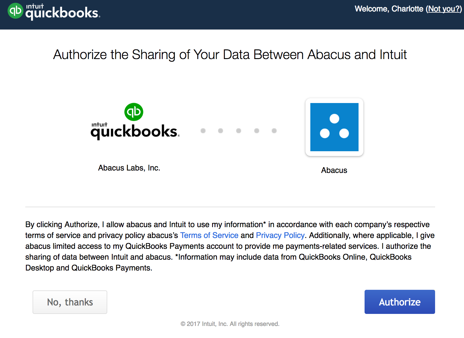 Connect QuickBooks Online Accounting software to Abacus - Abacus