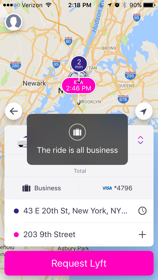 lyft integration abacus