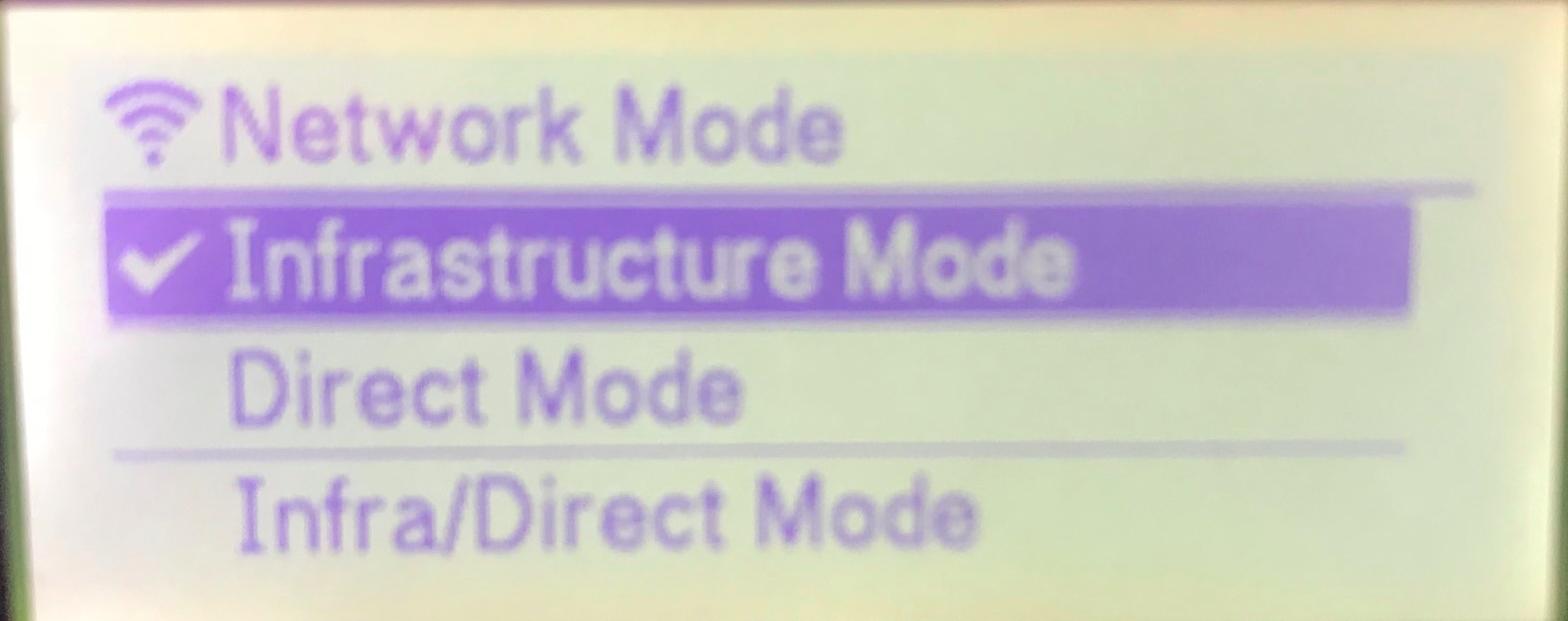 Selecting Wifi Network