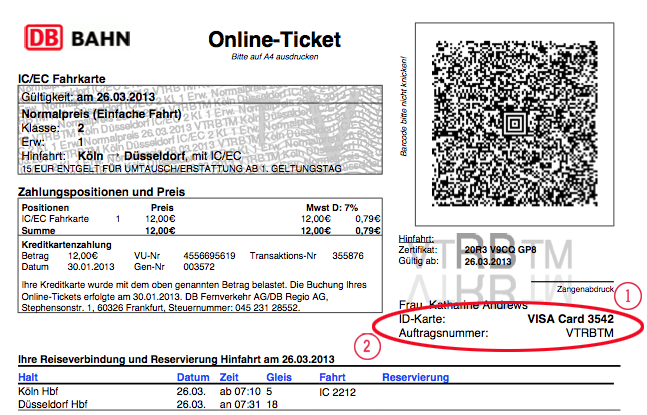 Deutsche bahn bw-ticket single