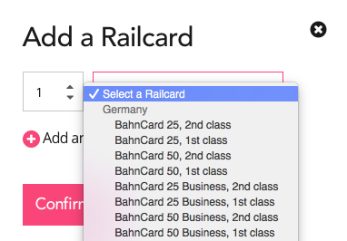 Once You Click Add Railcard A Box Will Open The Drop Down Menu To Select Your Specific