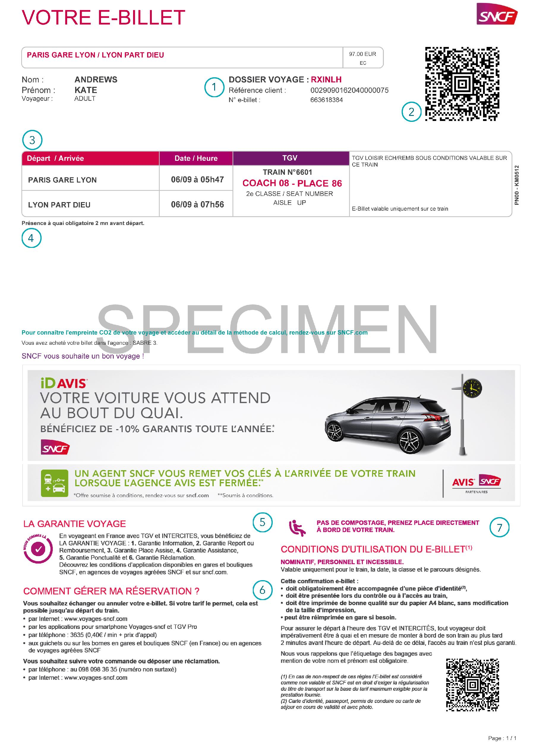 Understanding your French train ticket - Loco2 Help