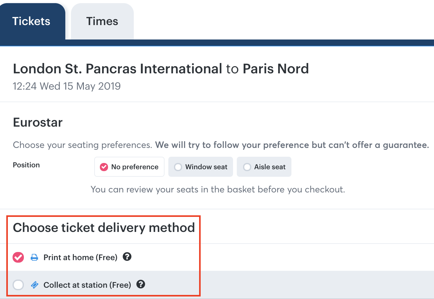 Can I change my train ticket delivery method? - Loco2 Help
