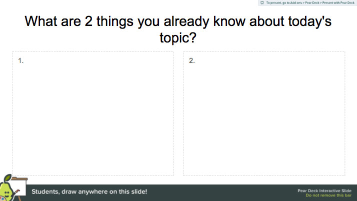 Formative Assessment Templates In The Pear Deck For Google Slides