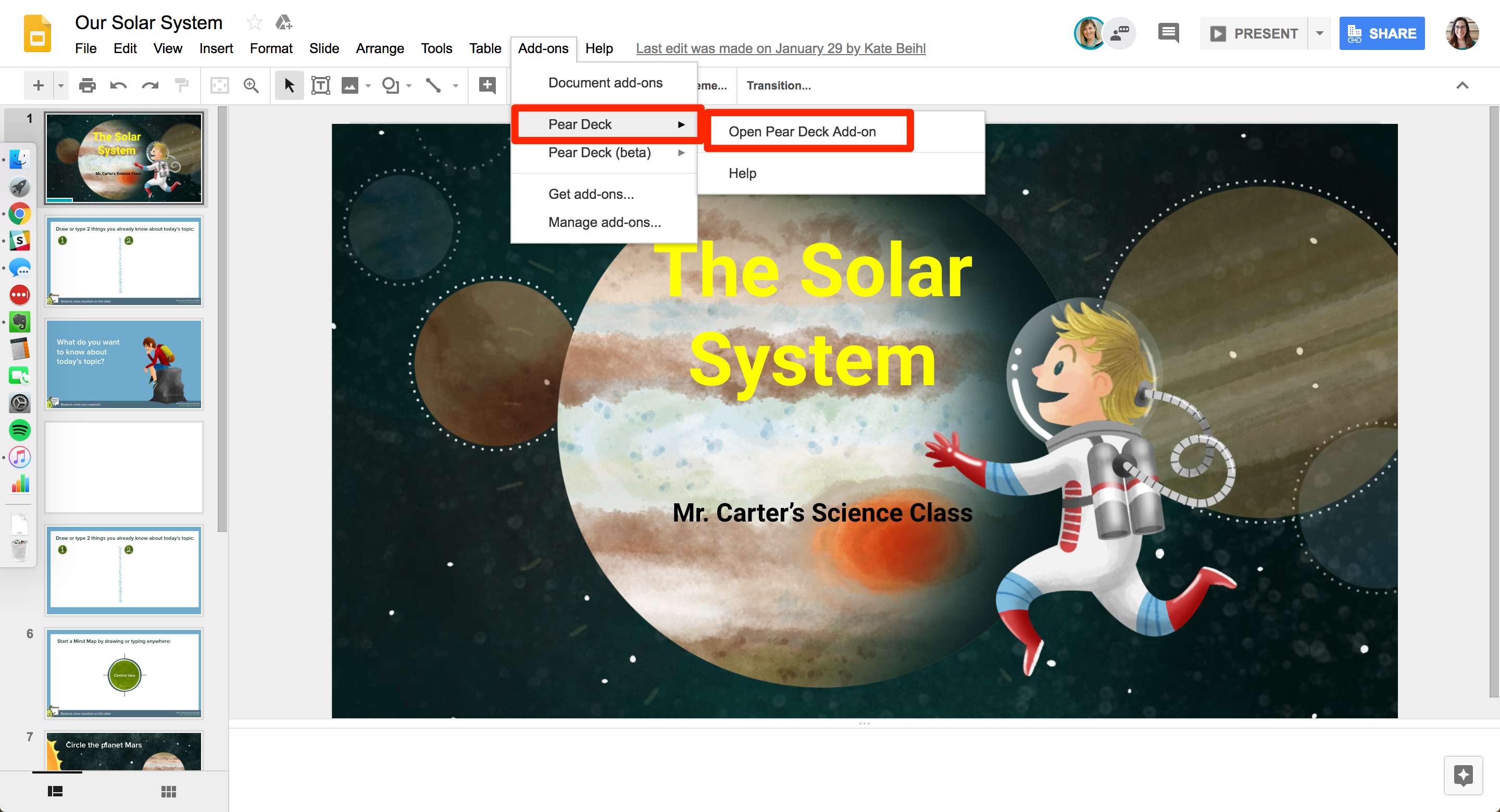 how to create a mirror image in google slides