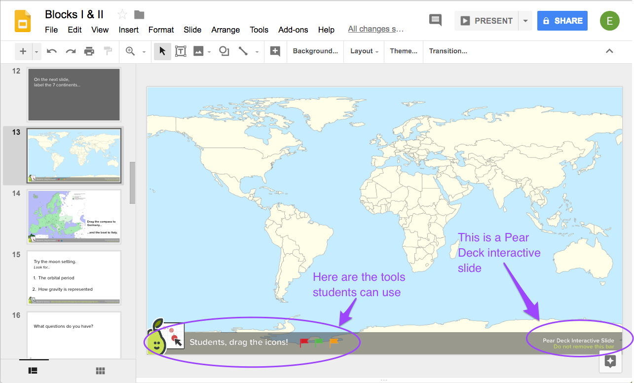 how to preview and edit the student view pear deck knowledge base