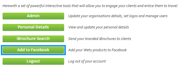 Using My iBrochure: How do I Manage my Facebook App - Wetu