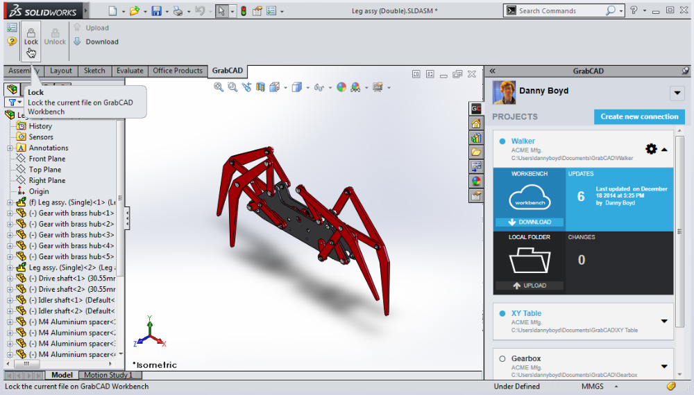 Workbench Desktop App add-in for SolidWorks® - GrabCAD Help