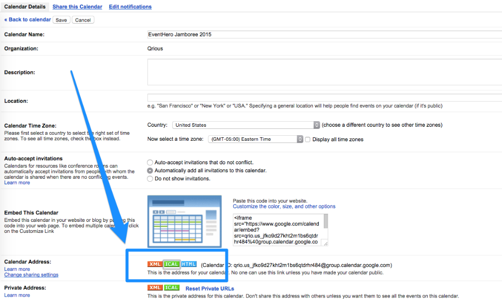 How to setup your event schedule using Google Calendar