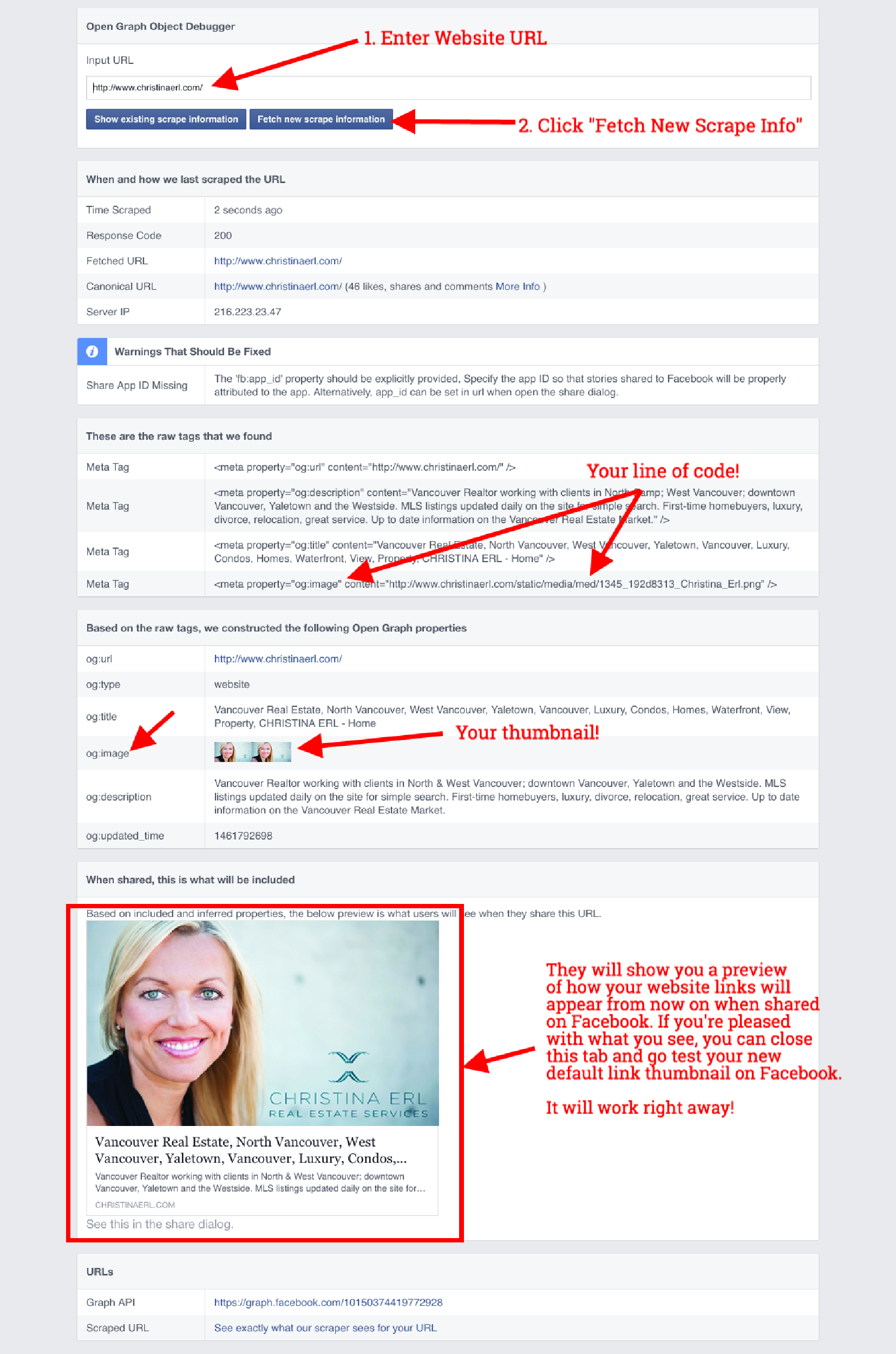 Changing Your Default Website Link Thumbnail (For Facebook