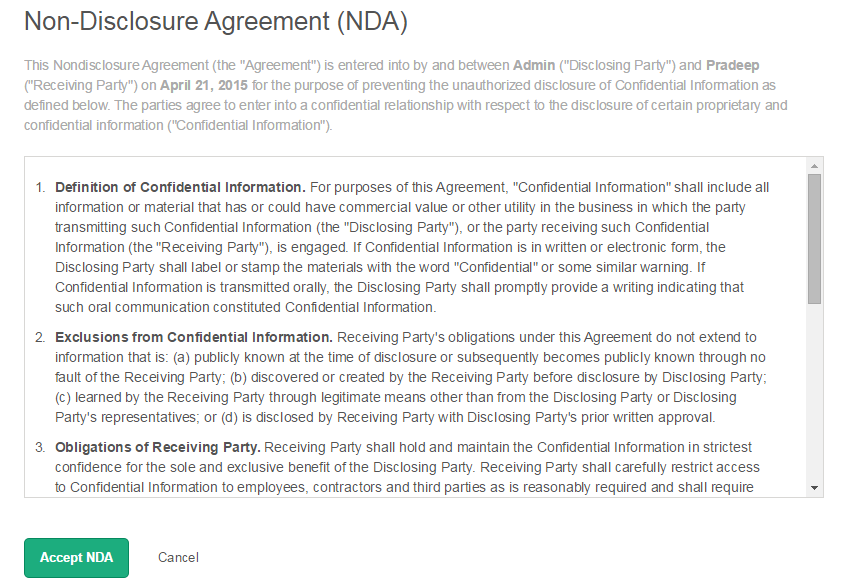 What Is A Non Disclosure Agreement Crowdstudio Help