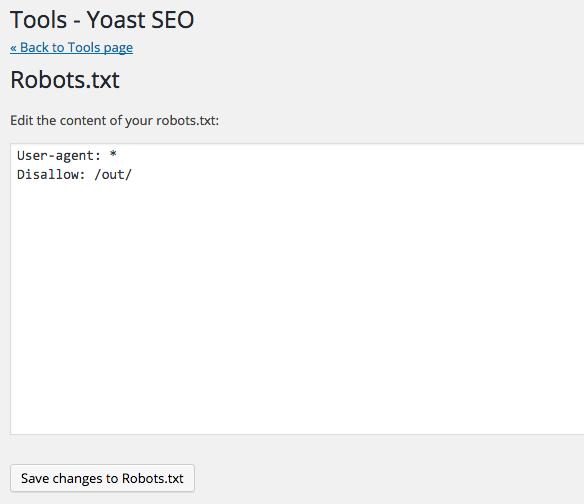 How to edit robots.txt through Yoast SEO? - Yoast Knowledge Base