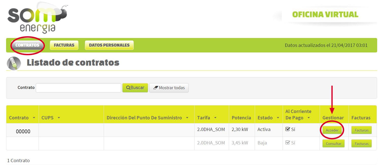 Subir potencia contratada iberdrola como podis observar for Oficina virtual del cliente iberdrola