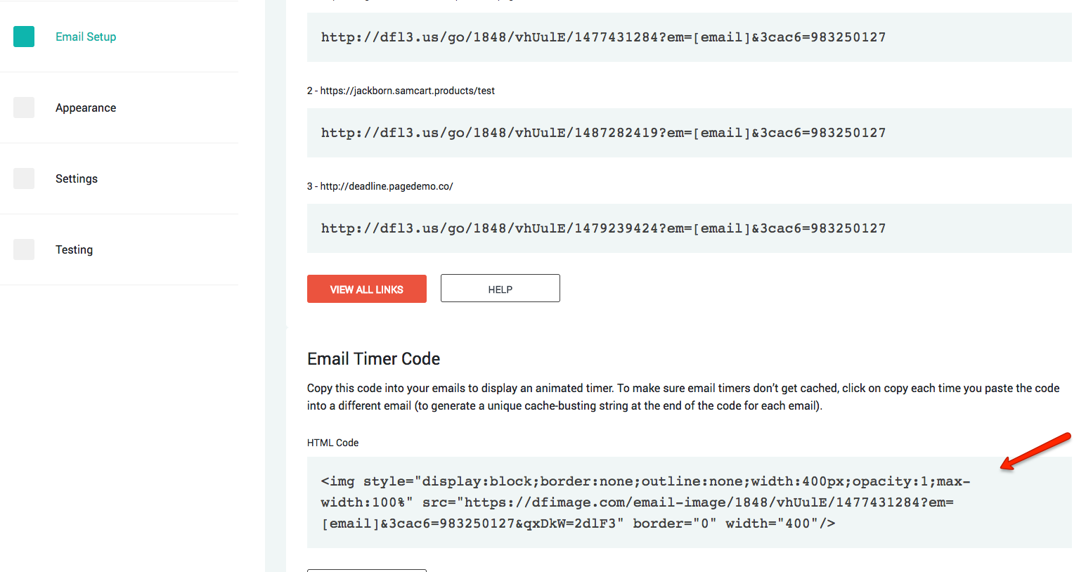How To Add Email Countdown Code To MailChimp Deadline Funnel - Mailchimp template width