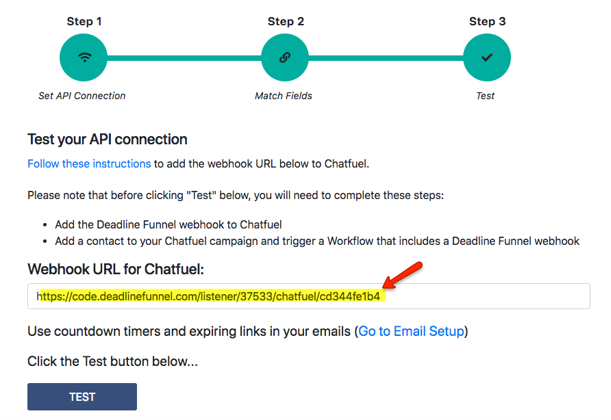 How to Integrate Deadline Funnel with Chatfuel - Deadline Funnel