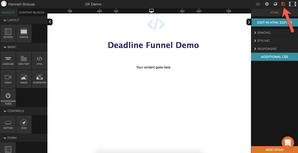 How to add a Countdown to Dragdropr - Deadline Funnel
