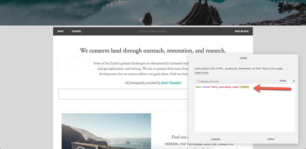 How to add a Countdown to Squarespace - Deadline Funnel