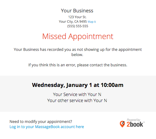 Sending Automated Appointment Emails To Clients Massagebook