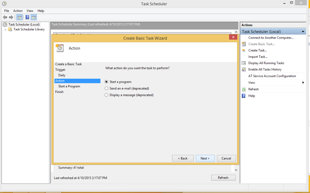 Scheduling The Database Connector on Windows 4