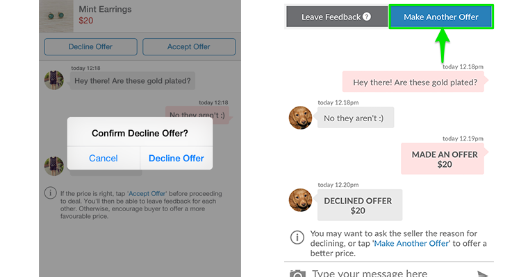 declined offer