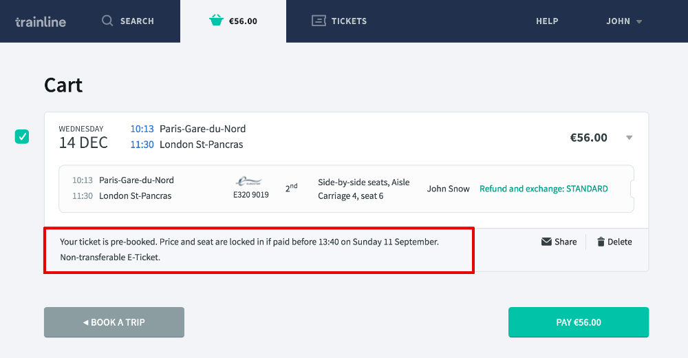 Can i pre book my tickets and pay later trainline help for Flights buy now pay later