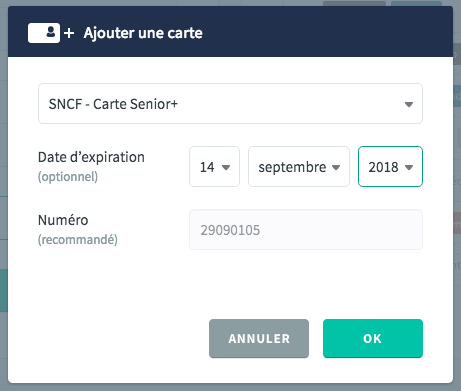 Donner une date d'expiration à une carte de réduction