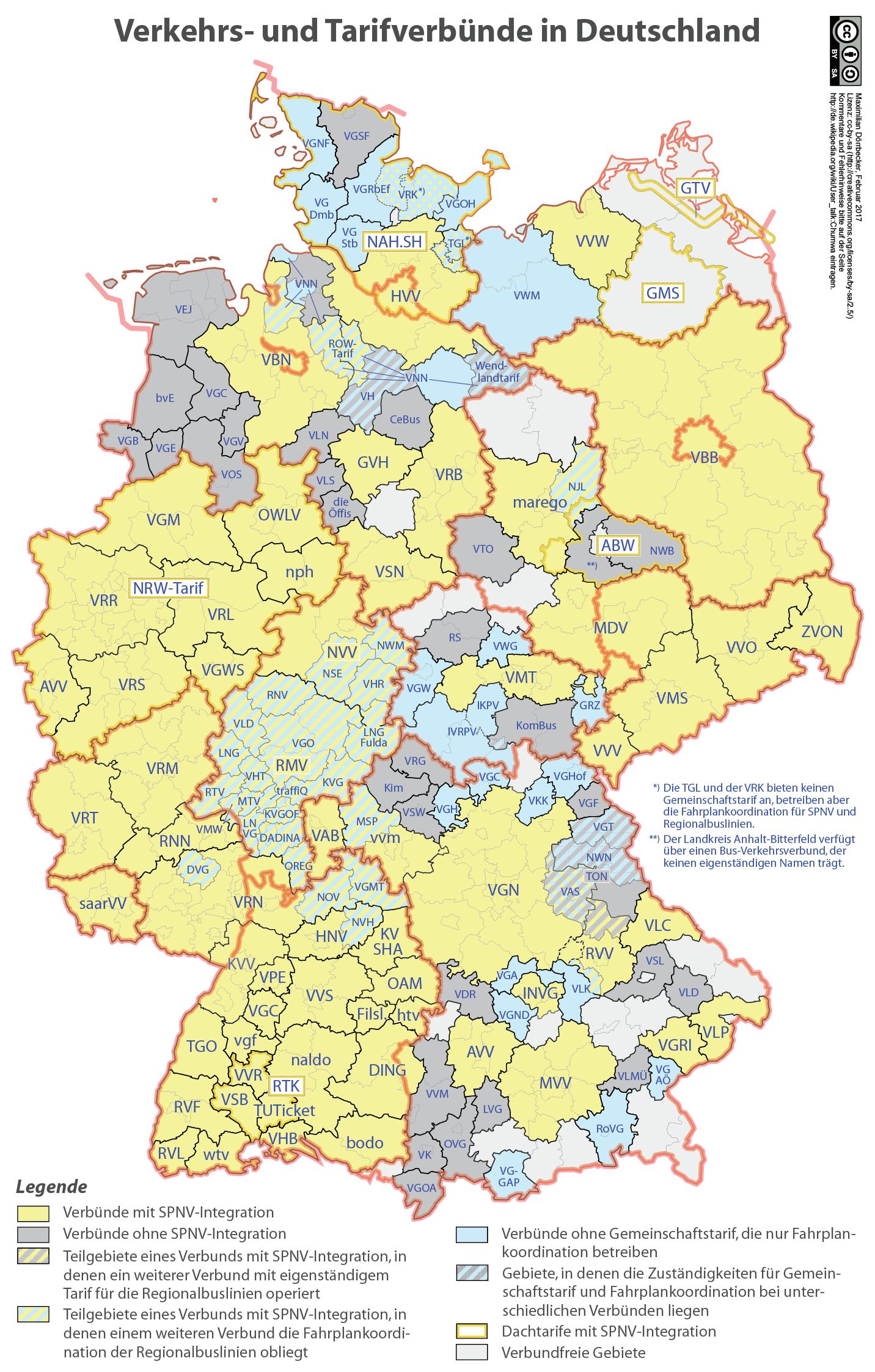 verkehrsverbünde deutschland karte Verkehrsverbünde in Deutschland   Trainline Hilfe (FAQ)