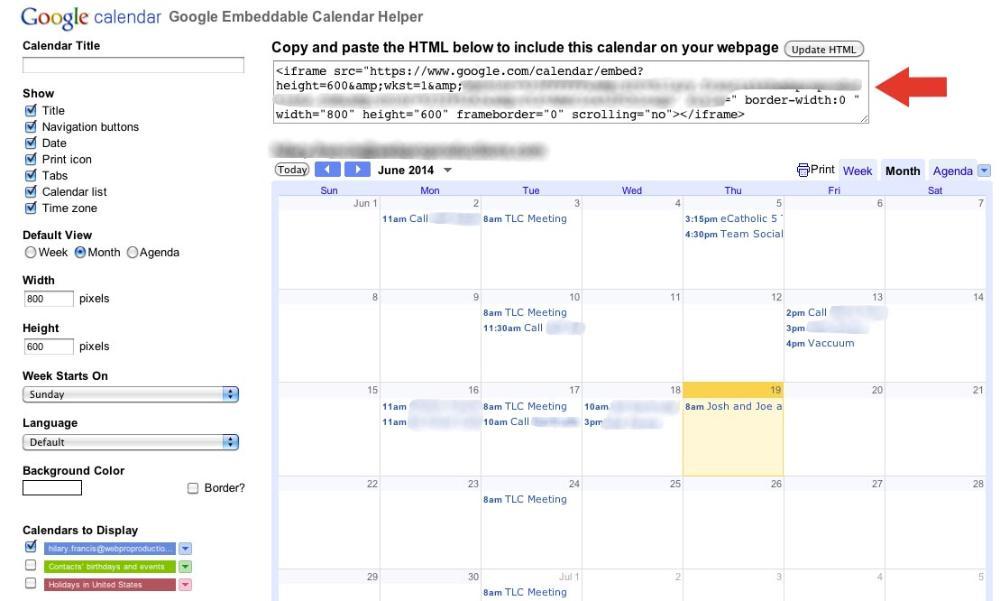 How to embed a Google Calendar on a page - eCatholic Help Center