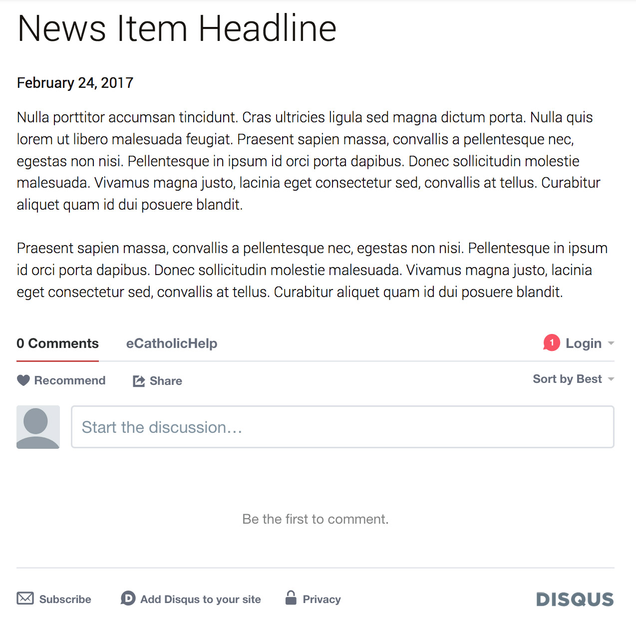 what is news item