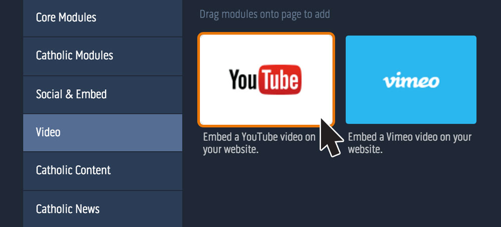 How to add a YouTube video - eCatholic Help Center