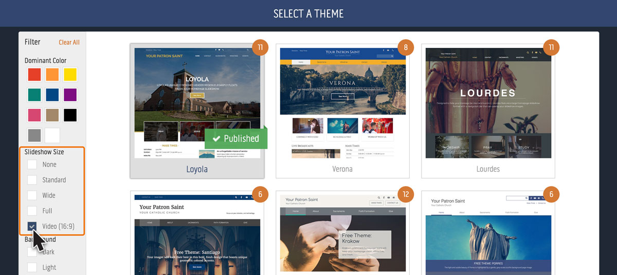 How to add video to the homepage feature region - eCatholic
