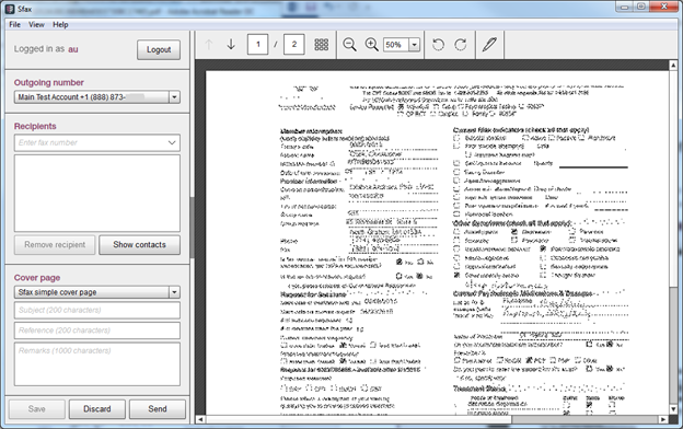 pdf documents distorted when sent to sfax print driver sfax