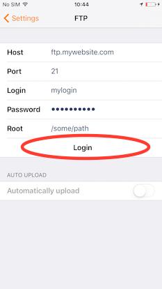 How to export via FTP - Genius Scan iOS