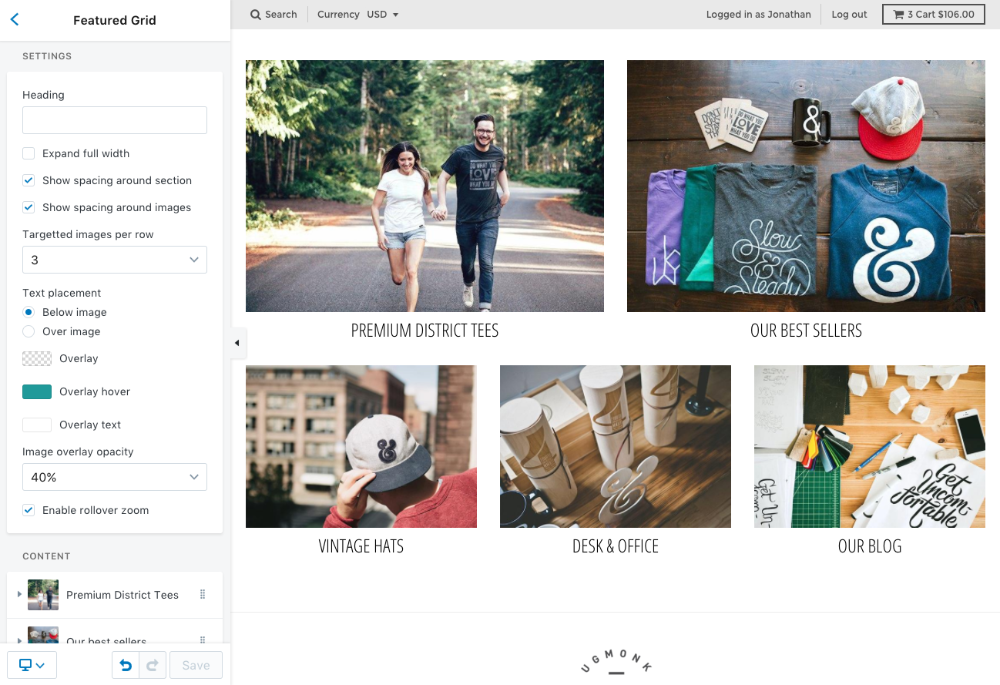 Featured Grid Shopify Premium Theme Support Style Hatch