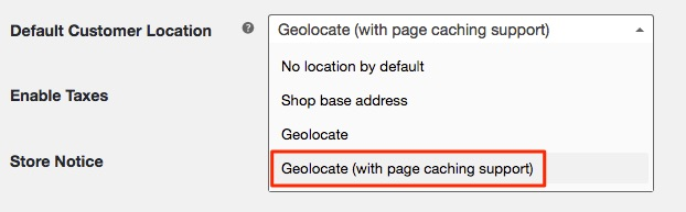 Default Customer Location: Geolocate (with page caching support)