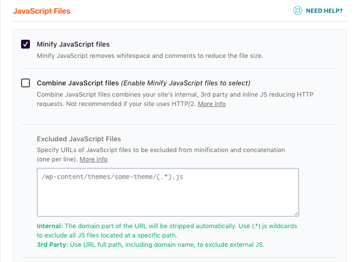 Find the right JS files to exclude from minification - WP Rocket