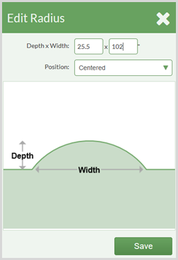 set depth and width