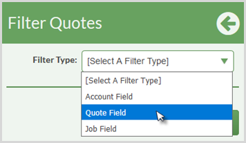 filter type- quote field