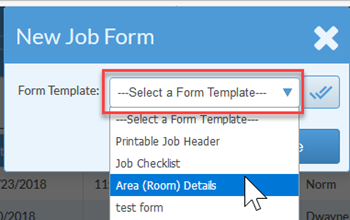 select a form template