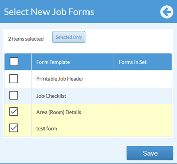 select multiple new job forms
