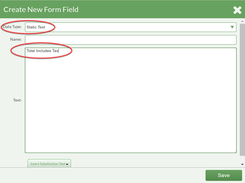 create new form field